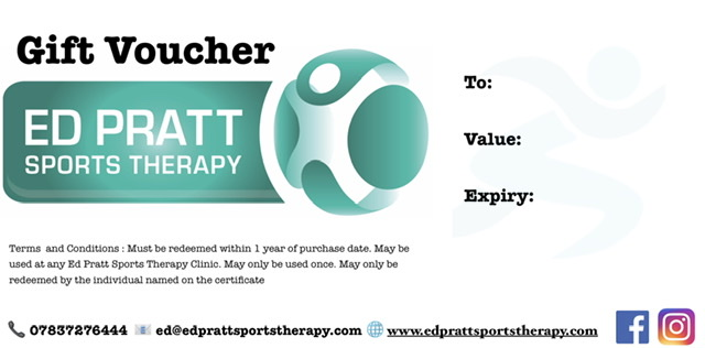Gift voucher Ed Pratt Sports Therapy
